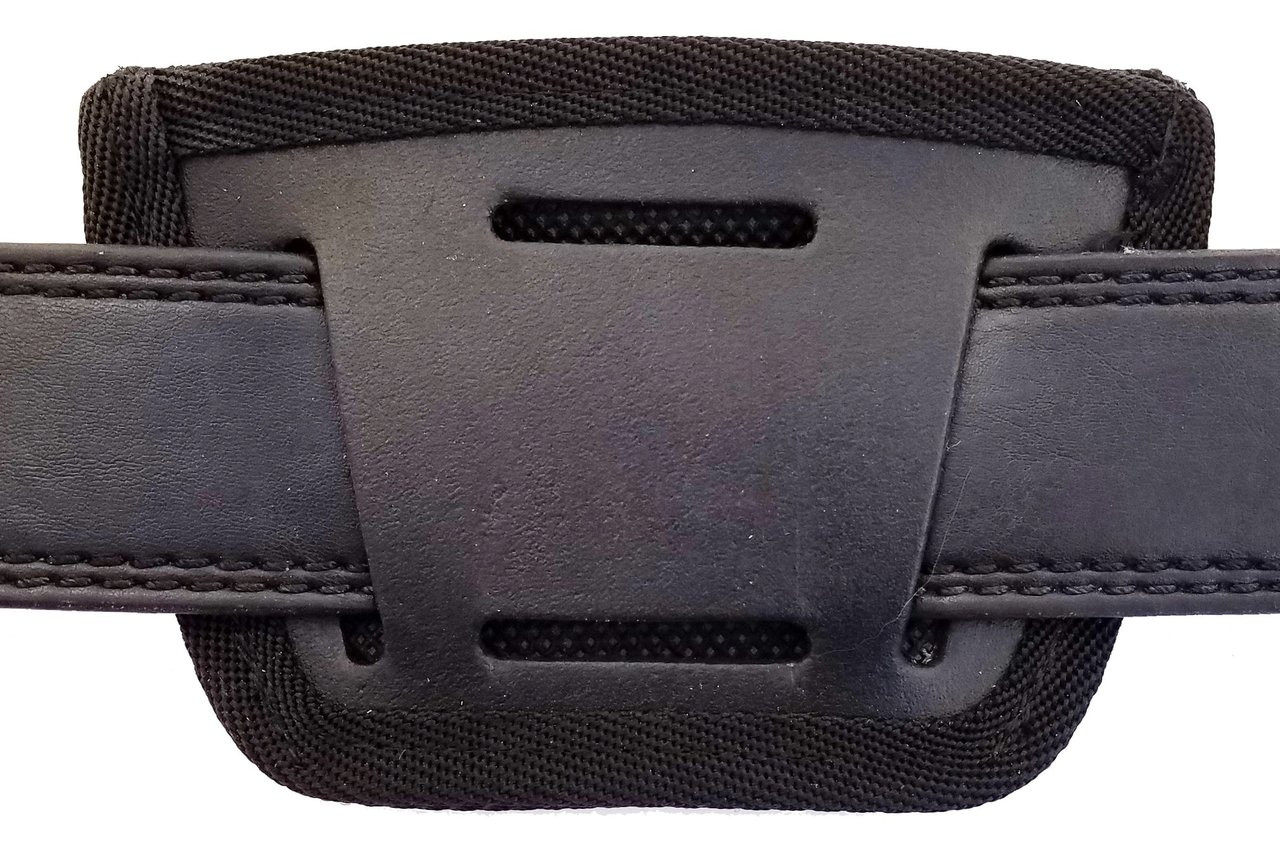 Garrison Grip Leather Inside and Outside Waistband Easy Slide Holster Fits Colt IV Mustang 380 (SLH) Black