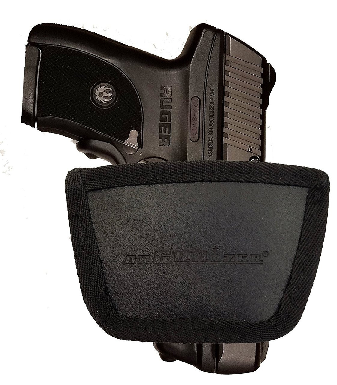Garrison Grip Leather Inside and Outside Waistband Easy Slide Holster Fits Ruger LC9 (SLH) Black
