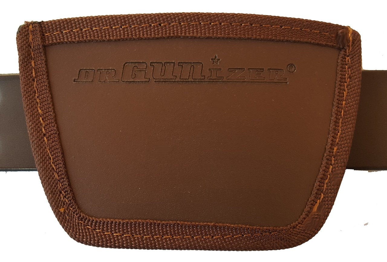 Garrison Grip Leather Inside and Outside Waistband Easy Slide Holster Fits Remington 380 (SLH) Brown