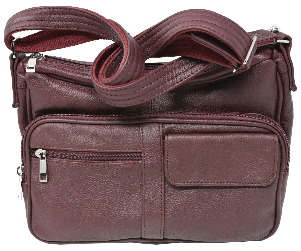 610dfdaac8ab Wine Crossbody or Shoulder Carry Leather Locking Concealment Purse - CCW  Concealed Carry Gun Bag