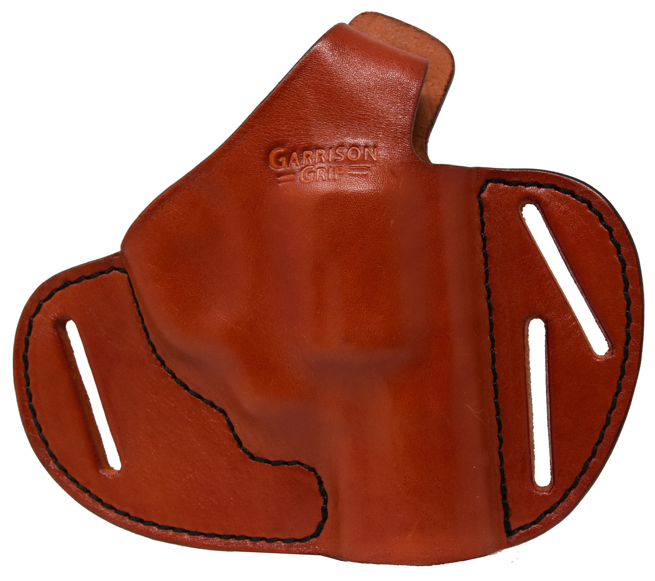 For Smith and Wesson 38 Special 357 Magnum 22 LR 22 Magnum Revolver, Premium Full Grain Tan Italian Leather 2 Position Tactical Holster