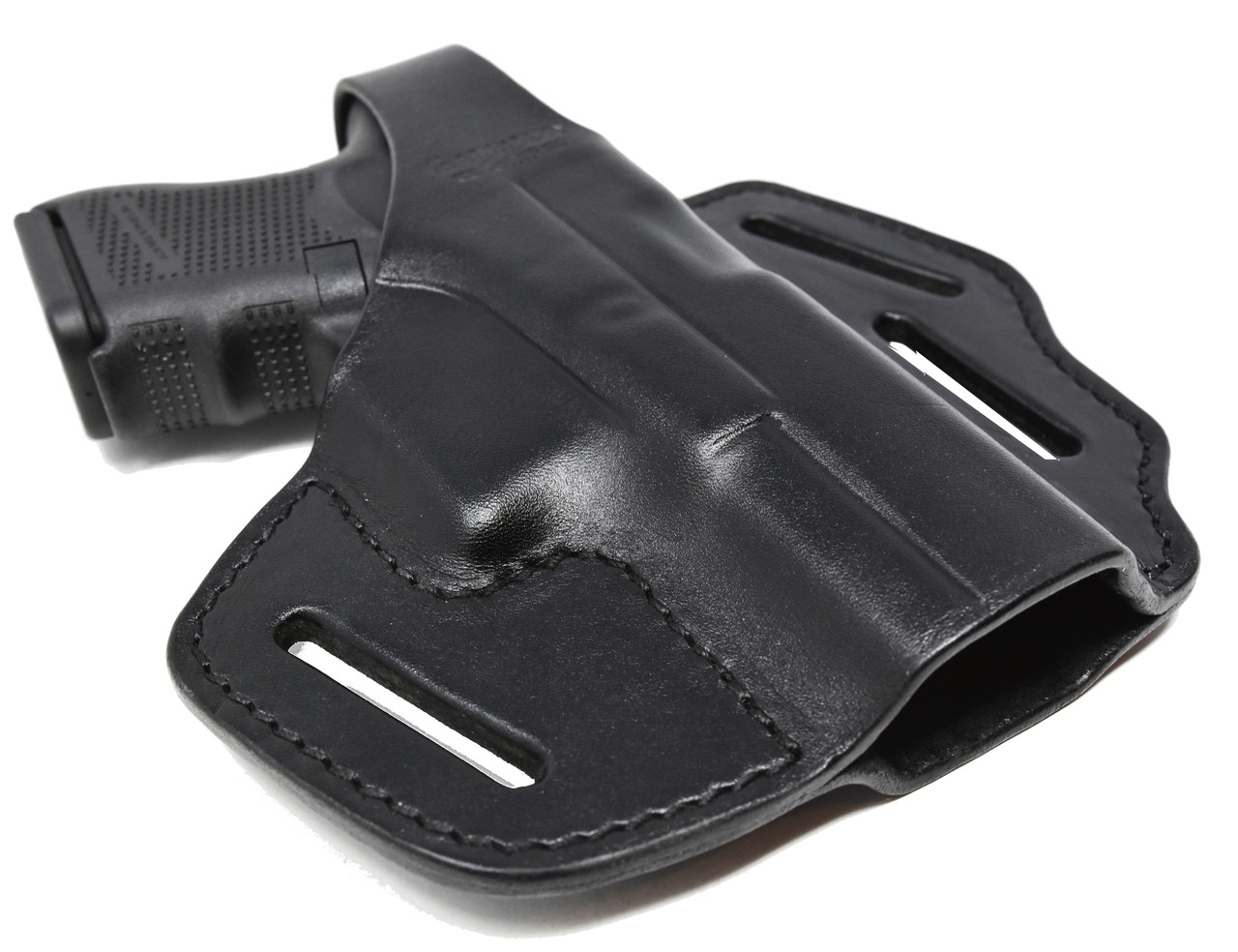 Garrison Grip Black Italian Leather  2 Position Tactical Holster For GLOCK 26 27 33 39