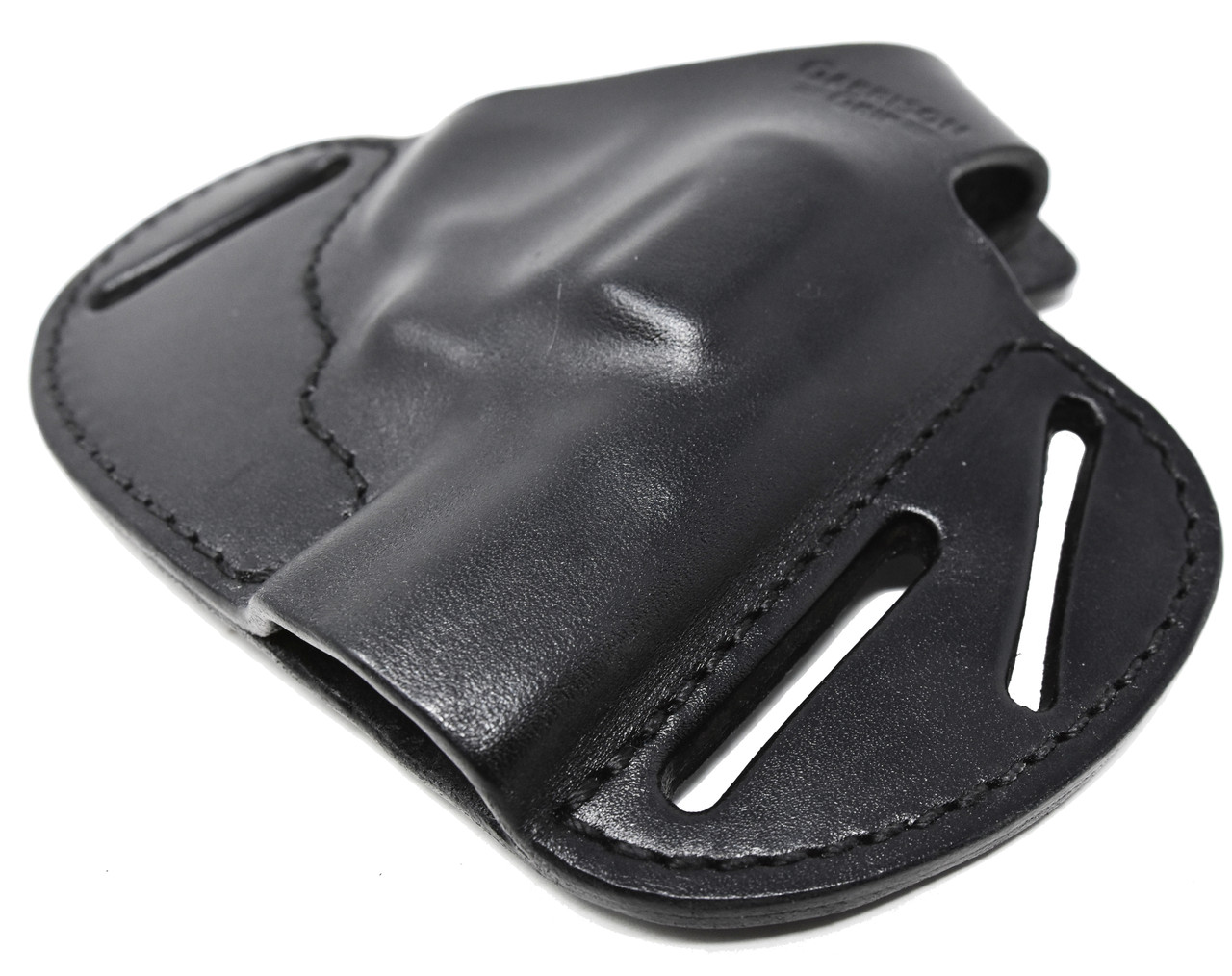 For Charter Arms 38 Special Undercover and Southpaw Revolvers, Garrison Grip Premium Full Grain Black Italian Leather 2 Position Tactical Holster