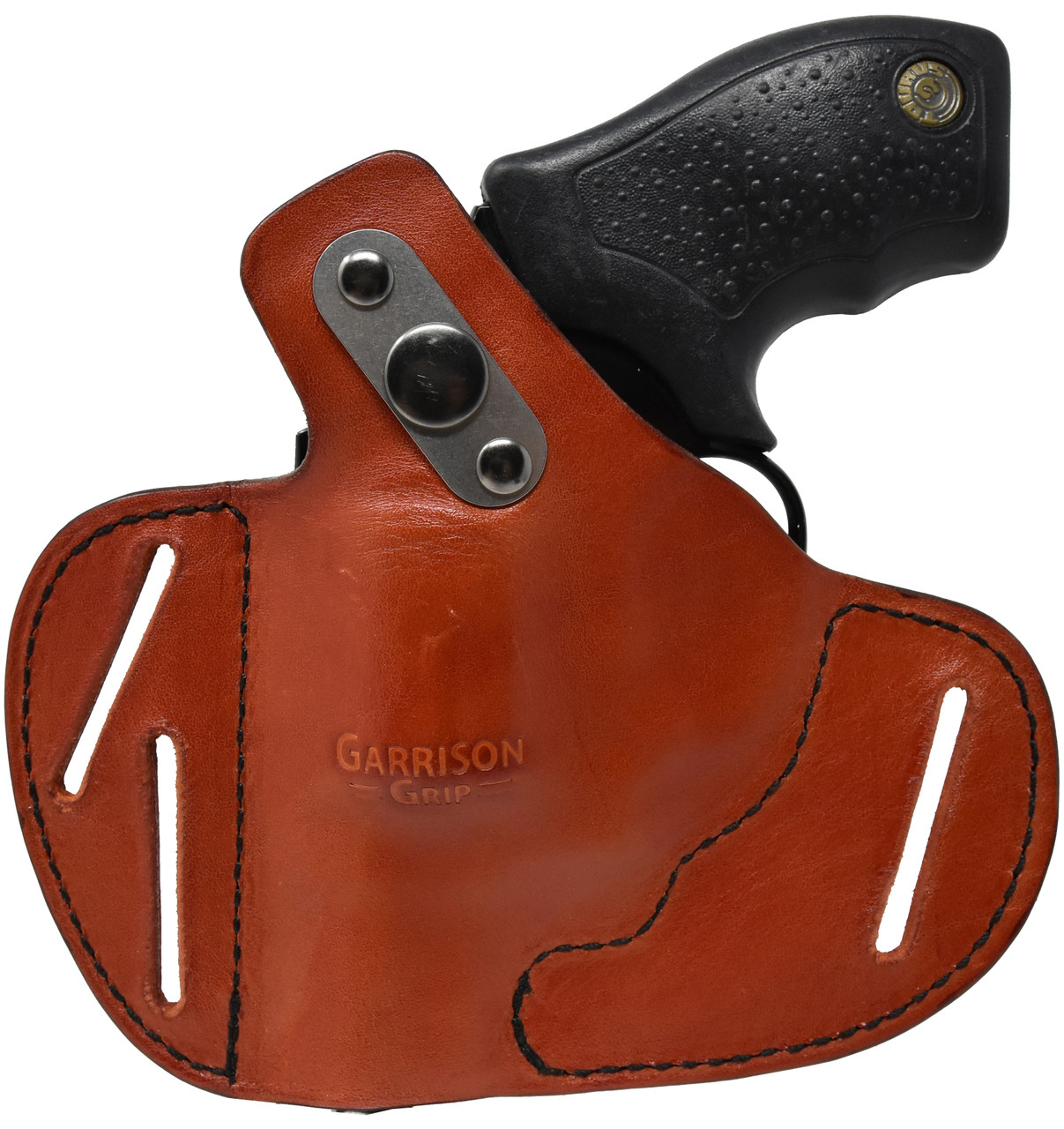 For Taurus Small Frame 38 Special and 9mm Revolvers, Garrison Grip Premium Full Grain Tan Italian Leather 2 Position Tactical Holster