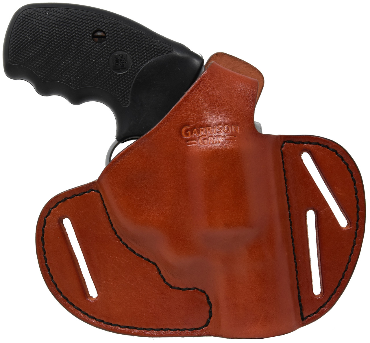 Garrison Grip Premium Full Grain Tan Italian Leather 2 Position Tactical  Holster Fits Charter Arms 38 Special Undercover and Southpaw Revolvers