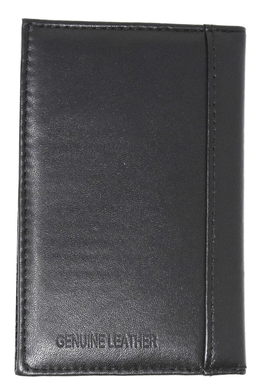 Genuine High Quality Black Leather Travel Passport Holder Wallet