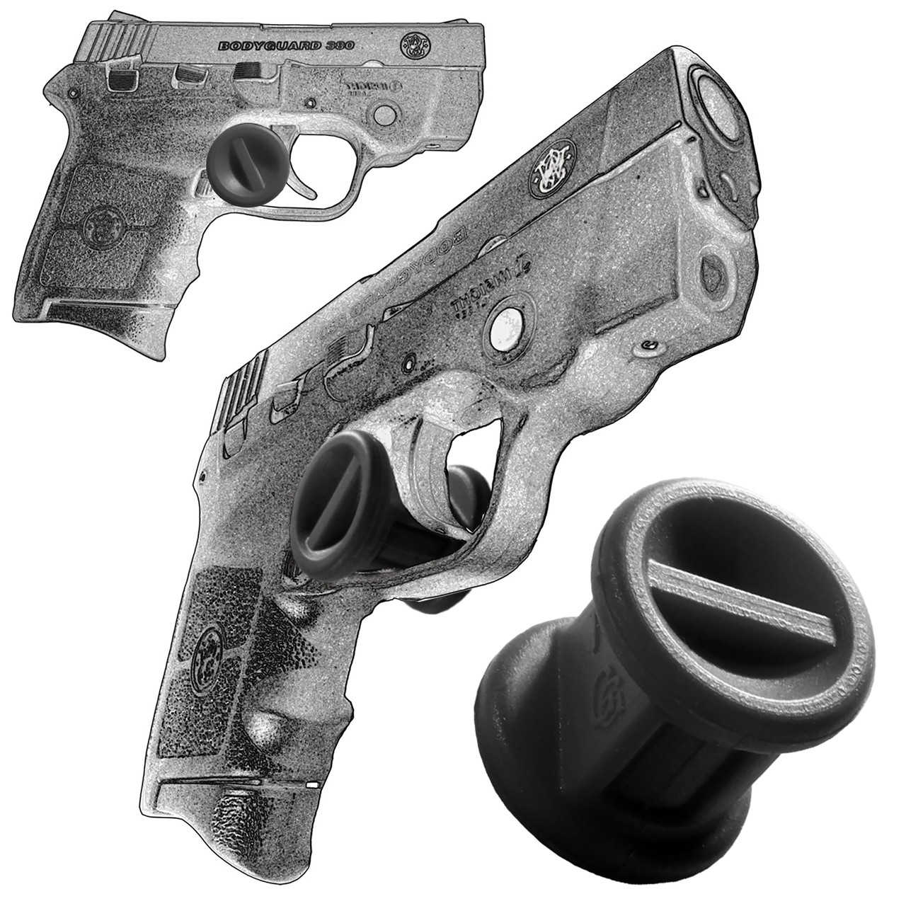 Garrison Grip Micro Trigger Stop Holster Fits Smith & Wesson Bodyguard 380 & M&P 380  (s20)
