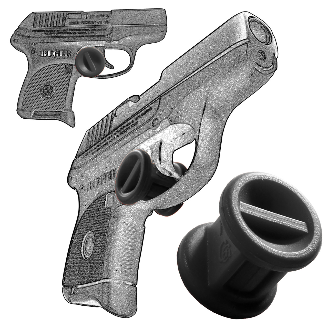 Garrison Grip Micro Trigger Stop Holster Fits Ruger LCP 380  & LCPII 380