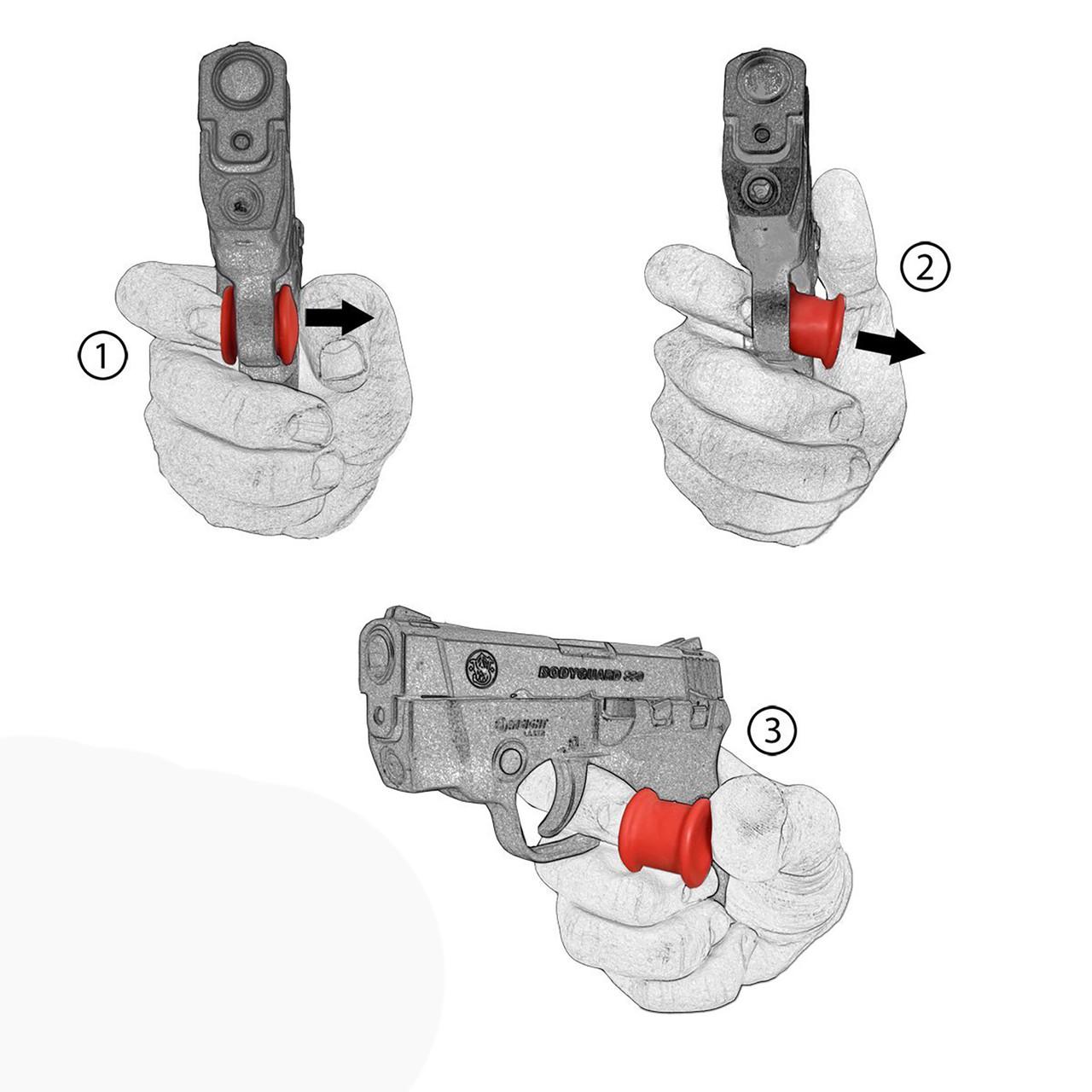 Garrison Grip Micro  Trigger Stop Holster Fits  Taurus PT732 & PT738, TCP380 & ACP .32  (s18)