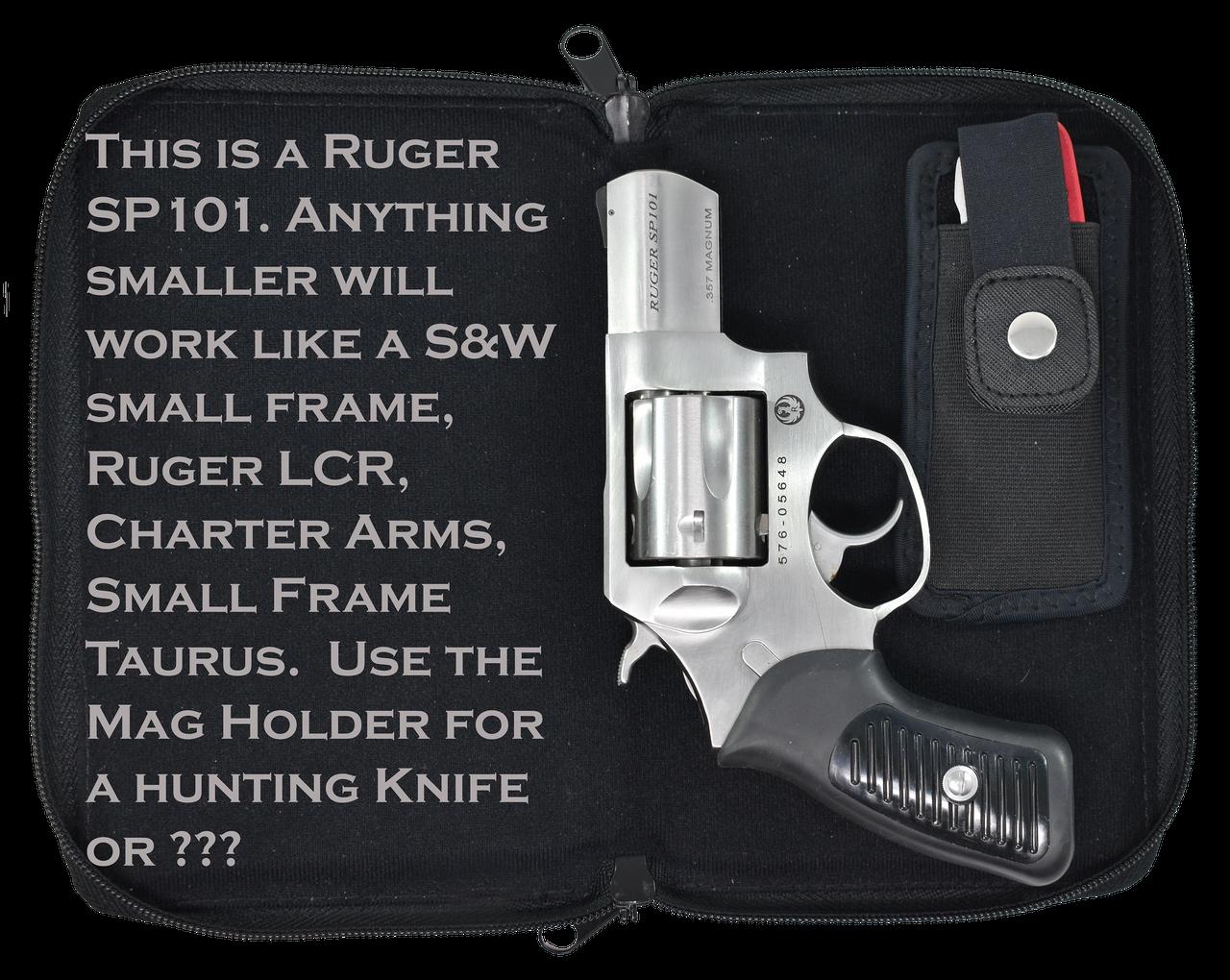 Garrison Grip Quality Leather CCW Bible Gun Case for Compact and Subcompact Guns (GTSN) BK