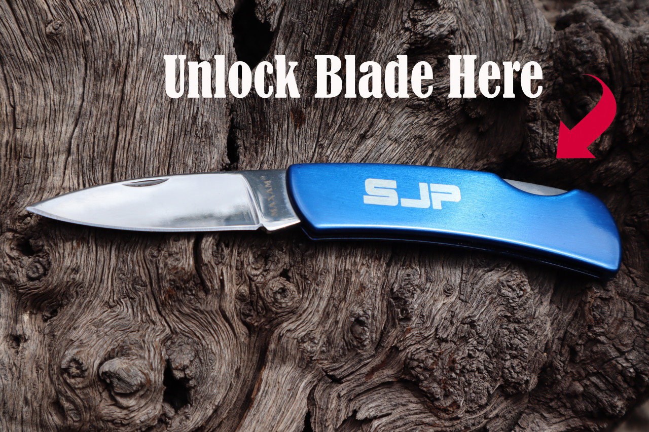 Garrison Grip Custom Engraved Pocket Knife with Initials