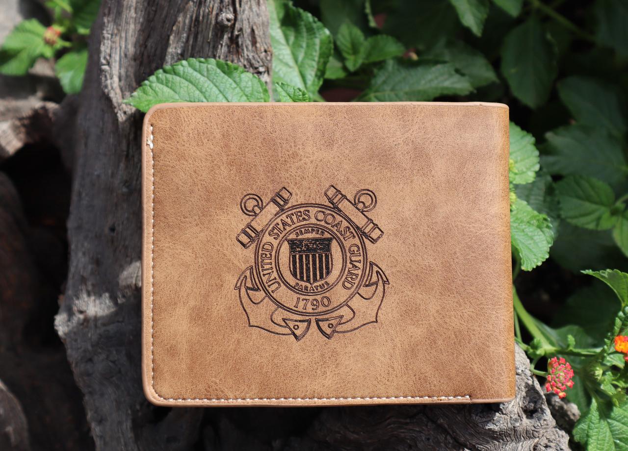 Garrison Grip Custom Engraved Bi-Fold Wallet with Military Logo
