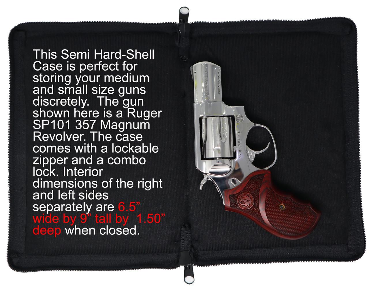 Garrison Grip Lockable CCW Or Bookshelf Bible Semi Hard Shell Gun Case For  Medium to Small Sized Guns (GTM)