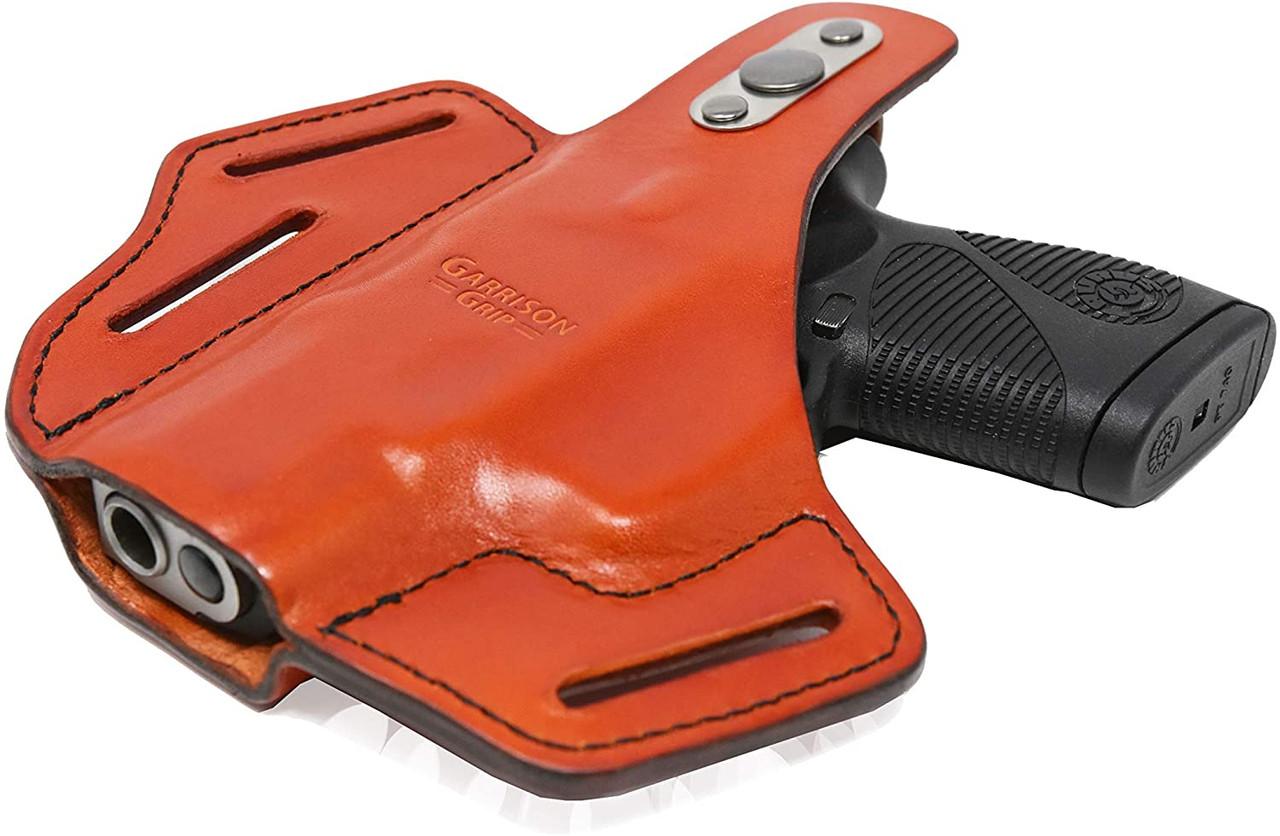 Garrison Grip Premium Full Grain Italian Leather 2 Position Tactical Holster Fits TAURUS PT740 (Tan)
