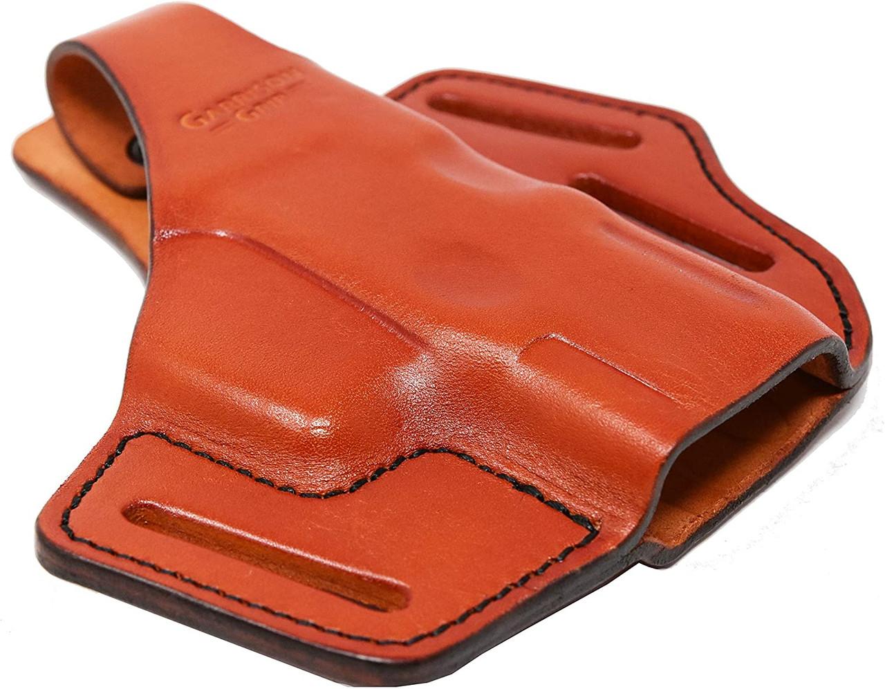 Garrison Grip Premium Full Grain Italian Leather 2 Position Tactical Holster Fits S&W M&P Shield 9 (Tan)