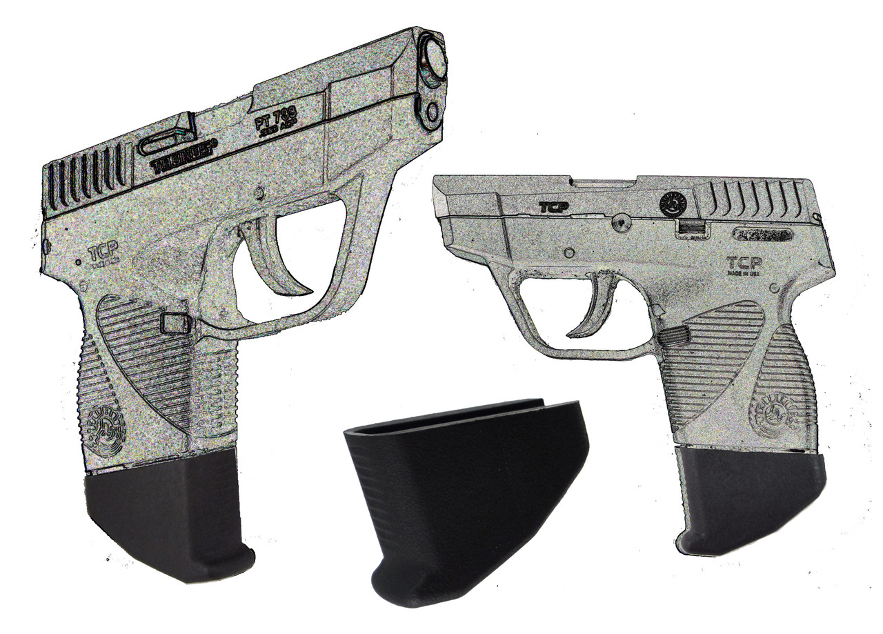 """Taurus PT732 and PT738 TCP 380  Extra Long 1.25"""" Magazine Mounted Garrison Grip Extension"""