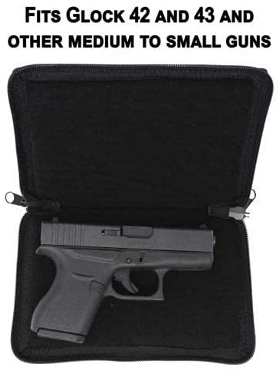Garrison Grip Lockable Concealed Carry And Bookshelf Semi Hard Shell Day Planner Gun Case With Silver Leaf Lettering For Medium To Small Sized Guns (GTM)