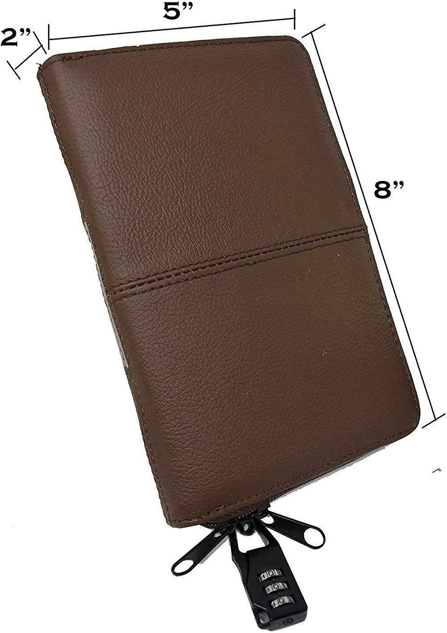 Quality Leather CCW Bible Gun Case for Compact and Subcompacts (GTSN) BRN