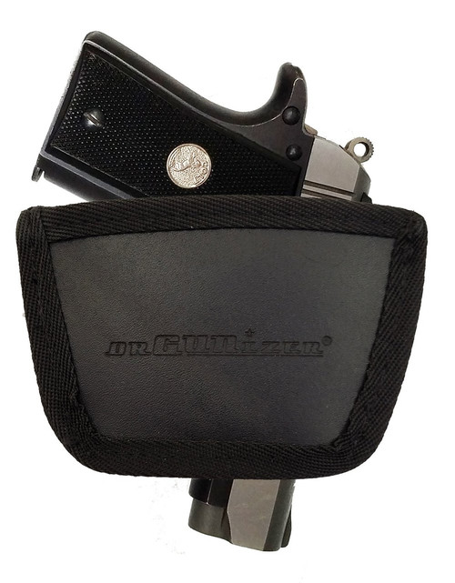 Garrison Grip Leather Inside and Outside Waistband Easy Slide Holster Fits Colt Mustang 380 Brown (SLH)