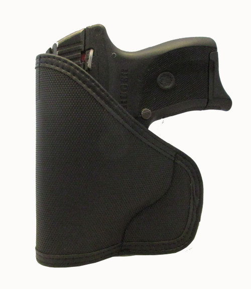 Ruger LC9 9mm Ambidextrous orGUNizer Leather Trimmed Pocket Holster (D)
