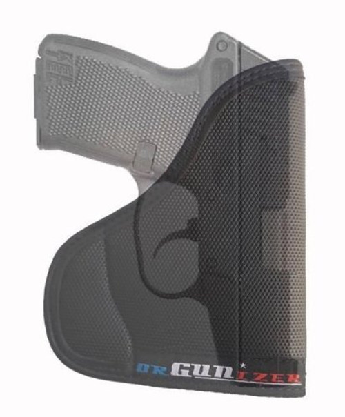 Kel-Tec P32 .32 Cal Ambidextrous Custom Fit Leather Trimmed orGUNizer Pocket Holster by Garrison Grip (A)