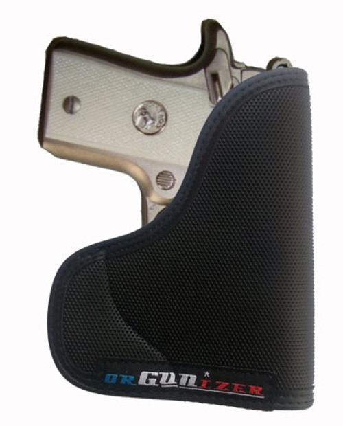 Colt Mustang MK IV Series-80 380 Auto Ambidextrous Custom Fit Leather Trimmed orGUNizer Pocket Holster by Garrison Grip (A)