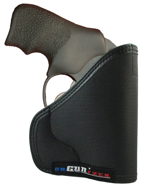 Ruger LCR Ambidextrous Custom Fit Leather Trimmed orGUNizer Pocket Holster by Garrison Grip (D)