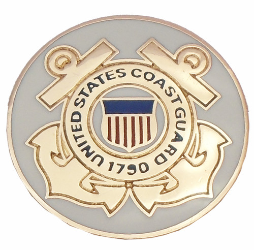 1911 Government Model US Coast Guard Emblems Set In Light Ivory Color Grips G54