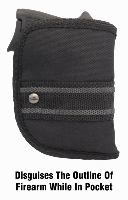 Woven Poly Pocket Holster Fits Ruger LCP 380 with Viridian (W2)