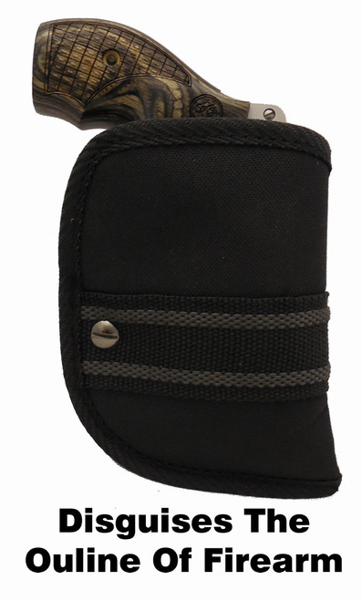 """Woven Poly Pocket Holster Fits Smith & Wesson """"J"""" Small Frame Revolver (W2)"""