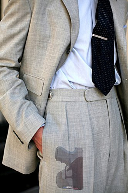 GLOCK Models 26 27 33 39 Custom Fit Leather Trimmed orGUNizer Poly Pocket Holster For Concealed Carry Comfort (D)