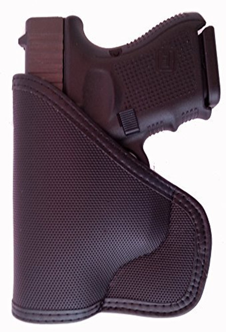 GLOCK Models 26 27 33 39 Custom Fit Leather Trimmed orGUNizer Poly Pocket Holster For Concealed Carry Comfort (D)