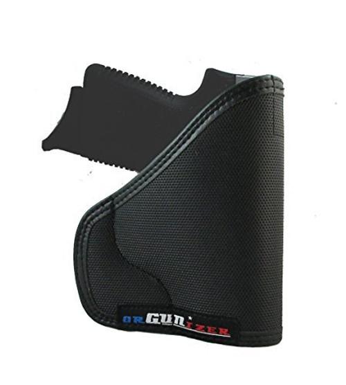 Kahr CM9 Custom Fit Leather Trimmed orGUNizer Poly Pocket Holster For Concealed Carry Comfort (C)