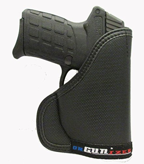 Kel-Tec PF-9 9mm Custom Fit Leather Trimmed orGUNizer Poly Pocket Holster For Concealed Carry Comfort (D)