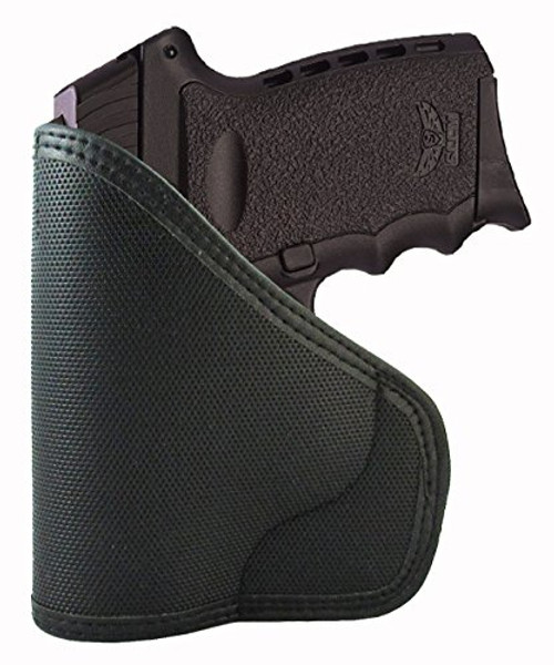 SCCY CPX1 & CPX2 Custom Fit Leather Trimmed orGUNizer Poly Pocket Holster For Concealed Carry Comfort (D)