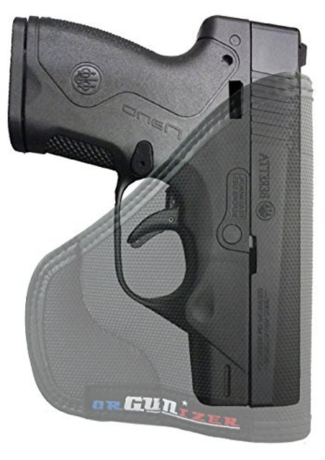 Beretta Nano Custom Fit Leather Trimmed orGUNizer Poly Pocket Holster For Concealed Carry Comfort (D)