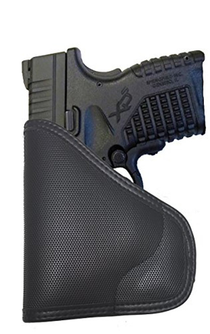 Springfield XDs 45 without Laser Custom Fit Leather Trimmed orGUNizer Poly Pocket Holster For Concealed Carry Comfort (D)