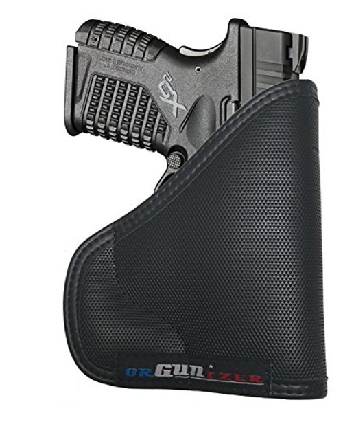 Springfield XDs 45 Custom Fit Leather Trimmed orGUNizer Poly Pocket Holster For Concealed Carry Comfort (D)