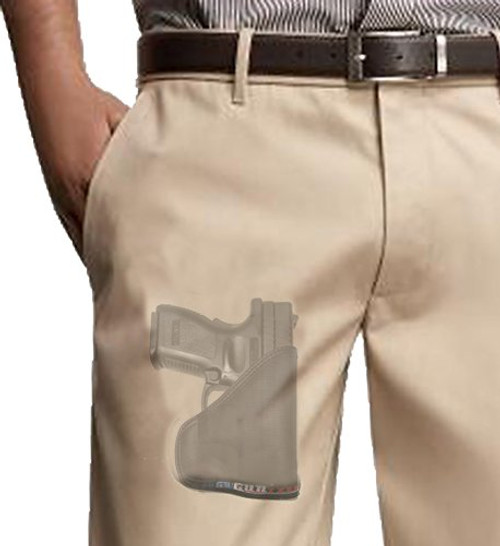 Springfield XD9 and XD40 Custom Fit Leather Trimmed orGUNizer Poly Pocket Holster For Concealed Carry Comfort (D)