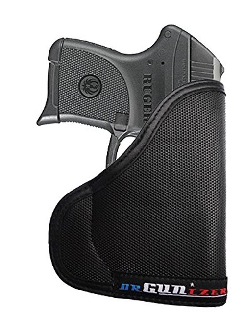 Ruger LC9 with Viridian Laser Custom Fit Leather Trimmed orGUNizer Poly Pocket Holster For Concealed Carry Comfort (D)
