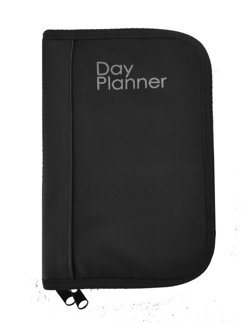 Nylon With Faux Leather Binder Concealed Carry and Bookshelf Day Planner Gun Case For Large to Small Guns