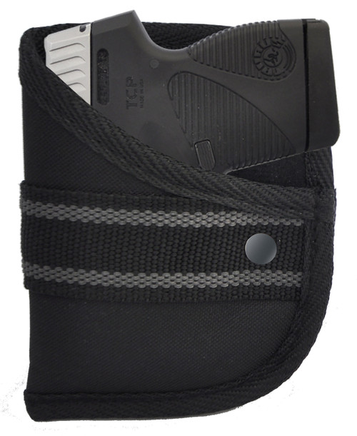 Woven Poly Pocket Holster Fits Taurus PT738 TCP 380 with or with o Laser (W2)