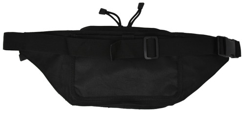 Garrison Grip Concealed Carry 5 compartment Durable Black Canvas Waist Fanny Pack For Small to Large Pistols With  Gun Compartment