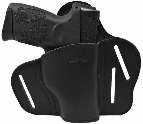 Garrison Grip Tactical Outside Waistband Custom Fit Black Leather 2 Position Belt Holster for Taurus PT111 G2 Millennium