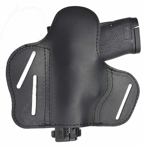 Garrison Grip Tactical Outside Waistband Custom Fit Black Leather 2 Position Belt Holster for Smith and Wesson M&P Shield 380