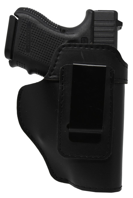 Garrison Grip Black Leather IWB Holster for Glock 26 up
