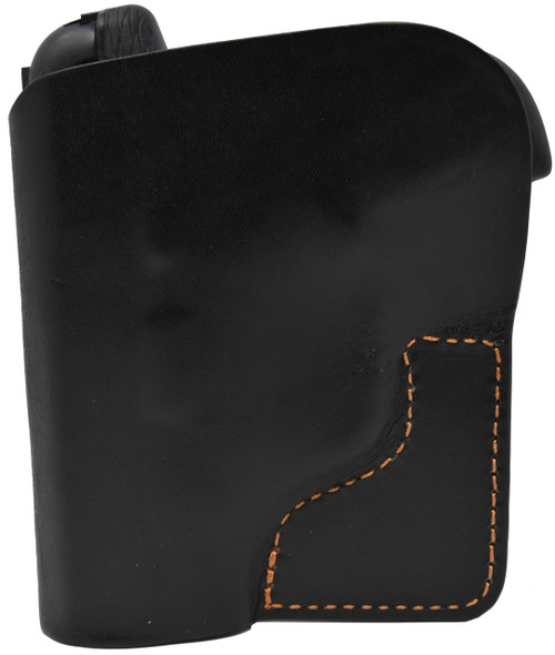 Black Italian Leather Pocket Holster for Taurus Spectrum 380 and Similar Guns
