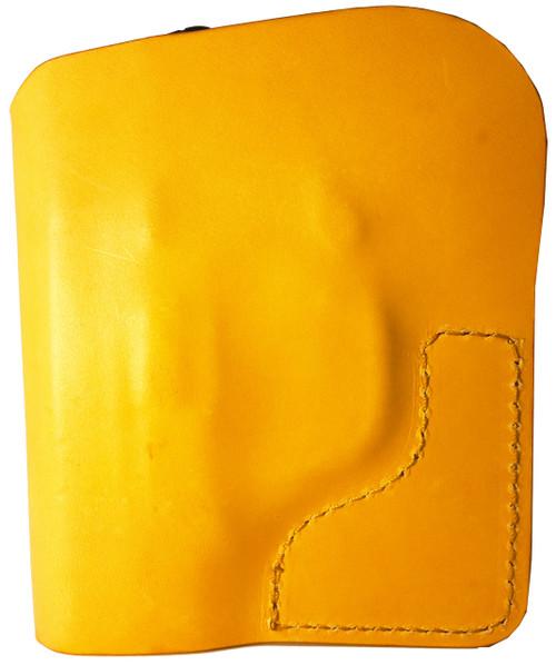 Tan Italian Leather Pocket Holster for Beretta Pico 380 and Similar Guns
