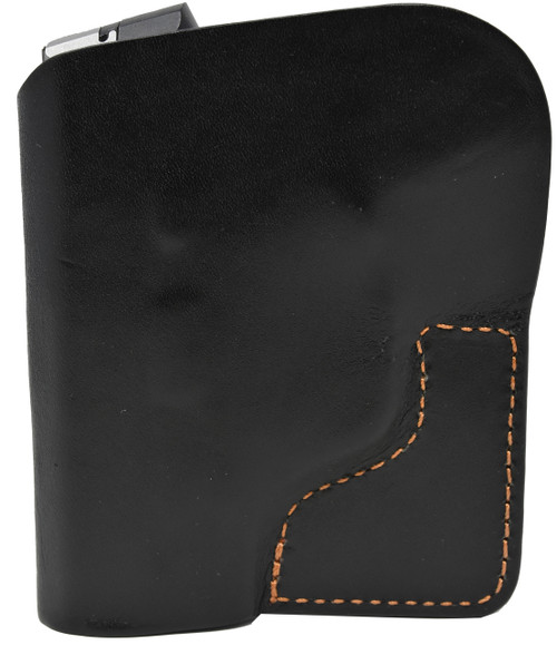 Black Italian Leather Pocket Holster for Taurus PT 732 & PT 738 and Similar Guns