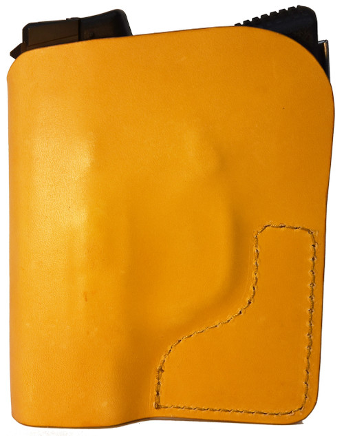 Tan Italian Leather Pocket Holster for Kahr PM9 and Similar Guns